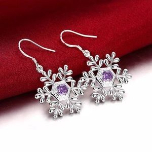 ‼️3 for 20$‼️or 1-15$‼️Snowflake silver earrings